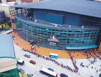 Fulton Street Overview of Van Andel Arena.