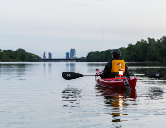 GR Paddling - Photo taken by Emily Sierra Photography. Emily is a writer who came to Grand Rapids for outdoor recreation, 2018.