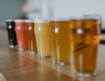 Craft beer line-up at Third Nature Brewing Company.