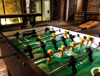 Interior of Grand Rapids Brewing Company's game room