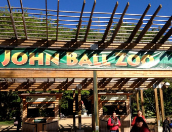 "Just steps away from the John Ball Zoo entrance, John Ball Park is the ""home"" of Oktoberfest West Michigan. The park includes picnic areas, playgrounds, biking, hiking/walking, access point for Kent Trails, and pond."