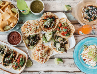 Stan Diego serves their tacos family style.