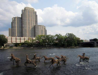 ArtPrize Horses in the River