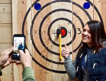 Hitting the Bullseye at Target Axe Throwing