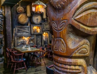 Interior of Max's South Seas Hideaway