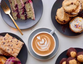 Rise baked goods + Squibb latte