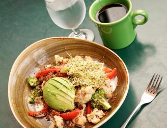 Cherie Inn's vegan menu includes oil and gluten-free items.
