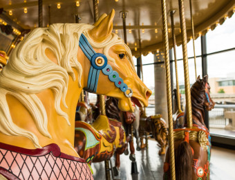 Carousel horse at Grand Rapids Public Museum Carousel