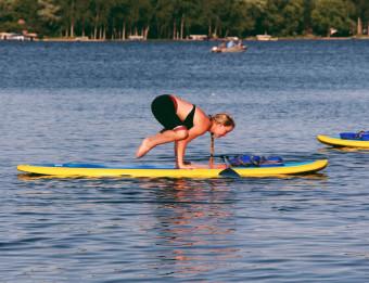Funky Buddha paddleboard yoga