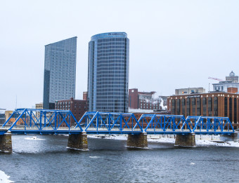 Winter in downtown Grand Rapids