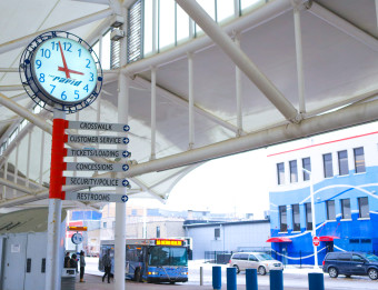 The Rapid provides public transportation throughout the Grand Rapids area.