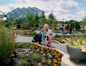 The Lena Meijer Children's Gardens fosters experiential learning and the use of all five senses.
