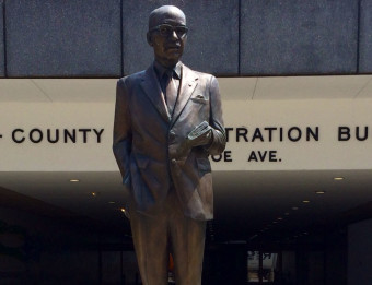 Statue of Mayor Lyman Parks