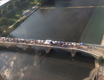 Event held on Gillett Bridge in Grand Rapids