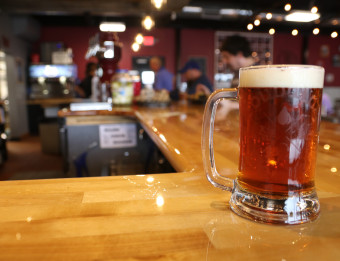 A mug of beer at TwoGuys Brewing