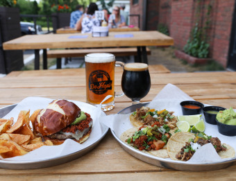 Food and drink at DeHops Brewing Company & Cafe