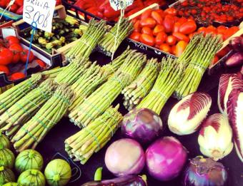 Fresh veggies at the Market