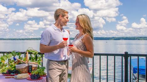 Wine tasting along Cayuga Lake