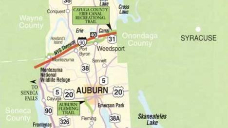 Cayuga County map large