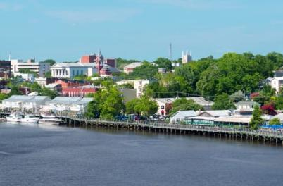 Wilmington riverfront still image