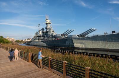 Battleship NC Memorial Walkway