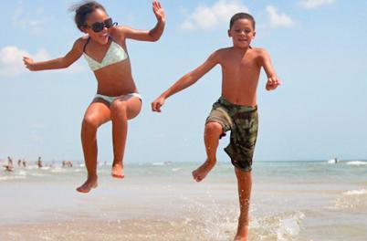 Carolina Beach Jumping Kids