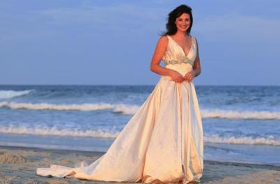 Bride on Wrightsville Beach