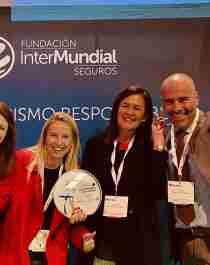 Glade prisvinnere! F.v. Patricia Pitarch, Grethe Bergsland, Eugenia Fierros og Luca Bocci ved Innovasjon Norges Spania-kontor.