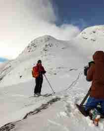 Innovasjon Norge og NVE lager denne uken film om sikkerhet på topptur i norske fjell.
