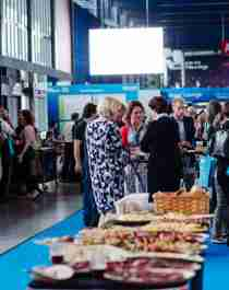 People mingling at the EAN congress in Oslo, Norway
