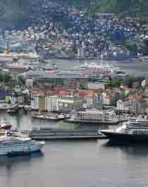 Panorama view of Bergen harbour
