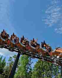 The rollercoaster Il Tempo Extra Gigante at Hunderfossen Adventure Park in Lillehammer, Norway