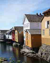 The village Sogndalstrand in Rogaland in the Stavanger region, Fjord Norway