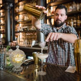 Bartender Making Drinks at Lake Effect