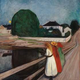 """Pikene på broen"", Edvard Munch (1901)"