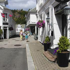 The Dutch Quarter In Flekkefjord The Holland Town Southern Norway