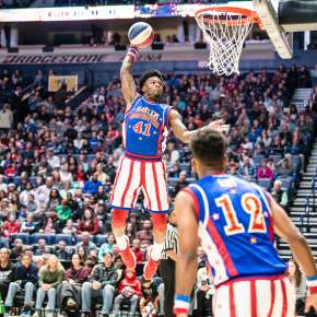 Harlem Globetrotters Dunking - Provided by Promoter