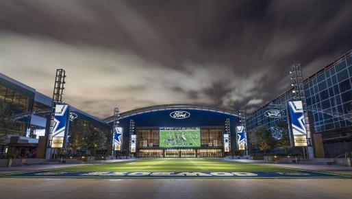 Outside view of the The Star in Frisco the Dallas Cowboys World Headquarters