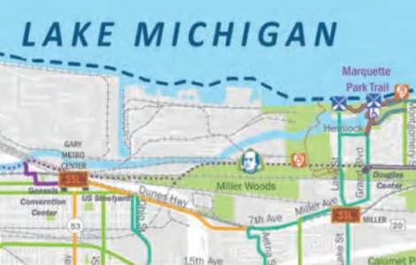 Bike & Water Trail Map