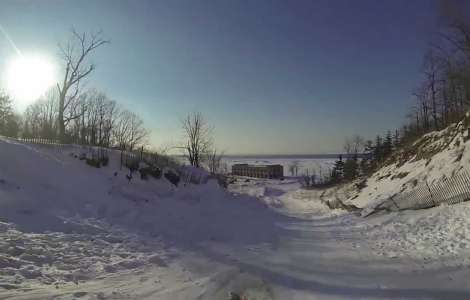 Sledding the Devil's Slide at the Indiana Dunes with GoPro