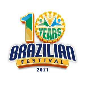 10 Year Anniversary Brazilian Festival Logo