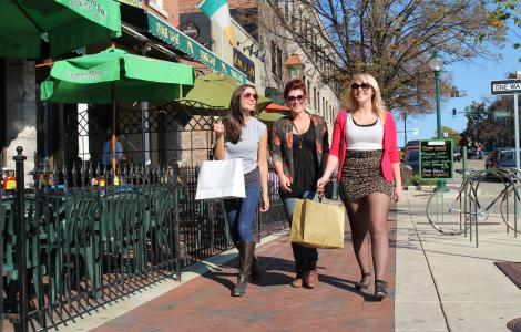 Shopping in Downtown Bloomington