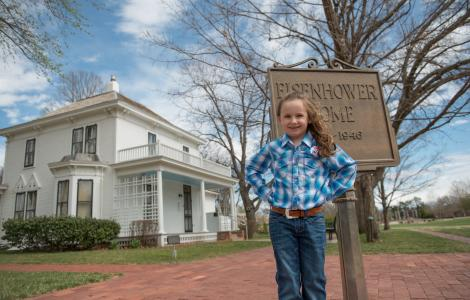Macey at Eisenhower Home