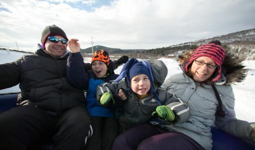 Family Snow Tube