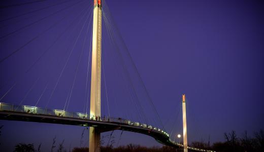 Bob Kerrey Pedestrian Bridge - Lights