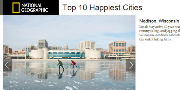 Top 10 Happiest Cities