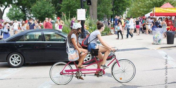 Biking Downtown Madison