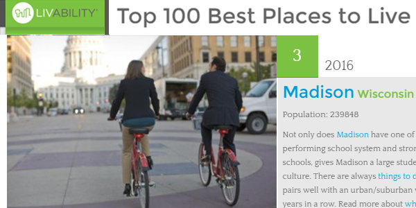 #3 in Top 100 Best Places to Live 2016