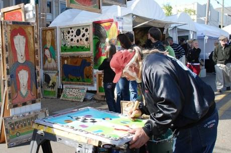 Man paining at Three Rivers Art Festival