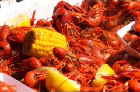 All you can eat crawfish cookoff